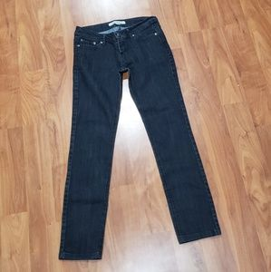 Black Low Waisted Straight Leg Jeans